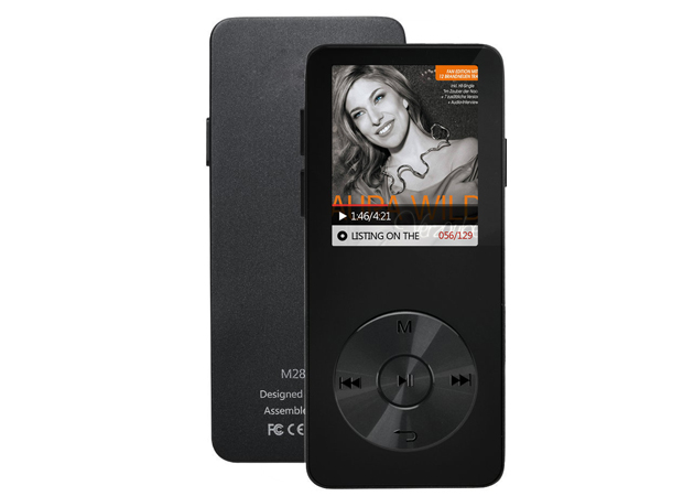 BJ-M28 MP3 player with recording, FM, e-book and one-key lock function