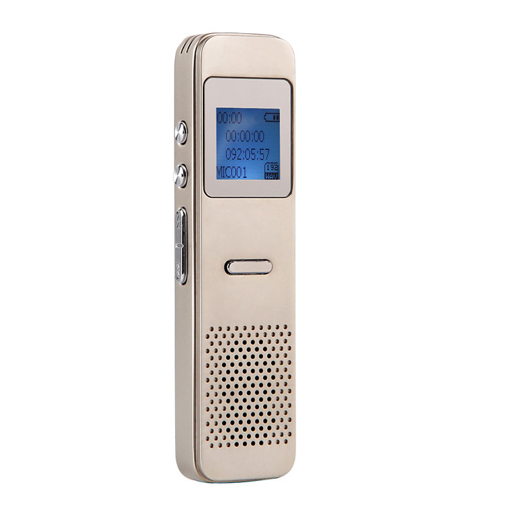 Digital Voice Recorder + Full Zinc Alloy+Time Sync+One Key Save + Noise Reduction+8g+20 Hours Long Recording +OEM ODM Wholesale_3
